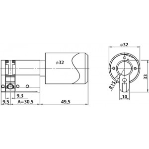 C100 ЕURO Standard single metall. Односторонний евроцилиндр С100 Aperio