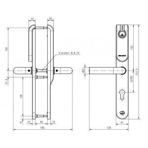 E100 Euro Profile Standard Outside Euro Profile / Inside blind. Беспроводной щиток ASSA ABLOY