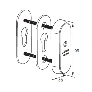 Защитная скобянка для цилиндров CH102