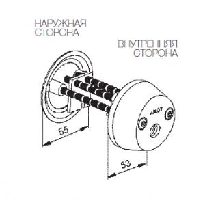 Цилиндр CY038N (protec)
