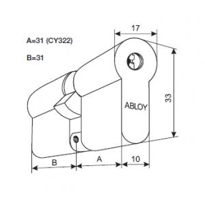 Цилиндр CY322T (protec2)