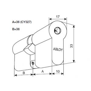 Цилиндр CY327N (protec)