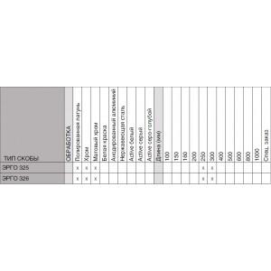 Ручка-скоба дверная Эрго 326-30/300 LК