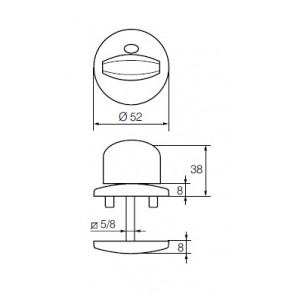 Поворотная кнопка для туалетных дверей LH002 WC