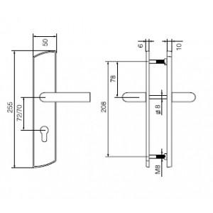 Ручка дверная Инокси 3-19/012 PZ+PZ