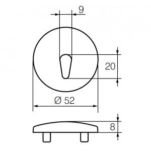 Щиток для замочной скважины LH002 A (MS)