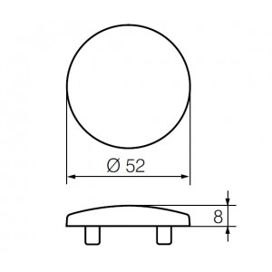 Покрывающий щиток LH002 P (FE)