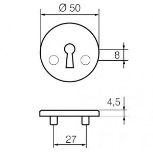 Щиток для замочной скважины LH008 A