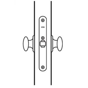 Защелка для сплошных дверей 4238