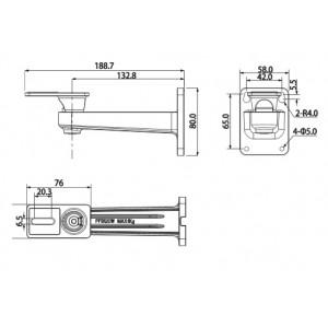 DH-PFB120W настенный кронштейн