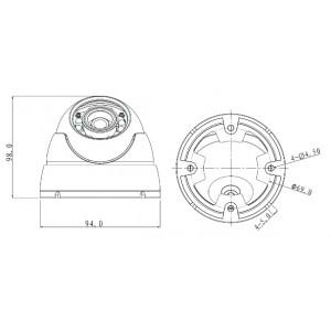 DH-HAC-HDW1200MP-0360B-S3 видеокамера 4 в 1 (HDCVI, HDTVI, AHD, PAL960H)