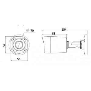 HAC-HFW1200RP-0360B, HDCVI видеокамера