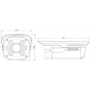 DH-IPC-HFW5200P-IRA-0722A Видеокамера IP уличная, 1080p (25к/с)