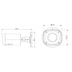 DH-IPC-HFW2300RP-Z Видеокамера IP уличная, 1536p (20к/с)
