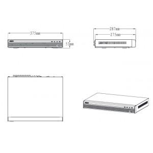 DHI-XVR5216AN 16 канальный мультиформатный видеорегистратор, 1080p