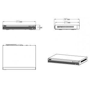 DHI-XVR7216A 16-и канальный мультиформатный видеорегистратор, 1080p 25 к/с