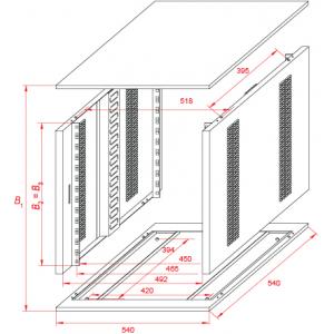 """""""EVRO"""" - шкаф для установки модулей"""
