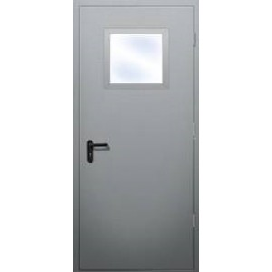 ДПО-О-60EIS дверь одностворчатая противопожарная дымогазонепроницаемая с остеклением менее 25%